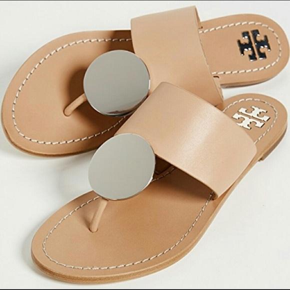 2f79e549043b  Tory Burch  Patos Disk Nude Sandals Size 8.5. M 5bd27f7aaa8770995e34091e